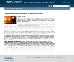Cisneros Press Release